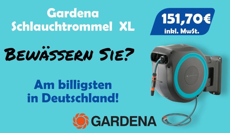 Gardena Schlauchtrommel XL, Am billigsten in Deutschland